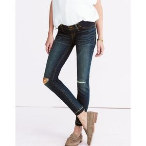 {Madewell} Maternity Side Panel Distressed Jeans